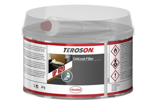 White Gelcoat Filler by Teroson  UP620 241g GRP Surface Repairs Boats Cars Baths